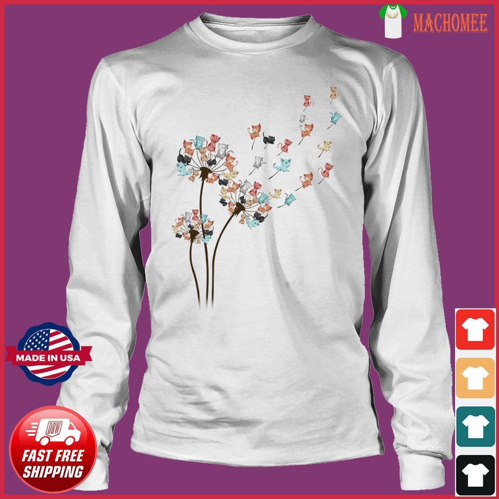 Dandelion Cats Flower Shirt Long Sleeve