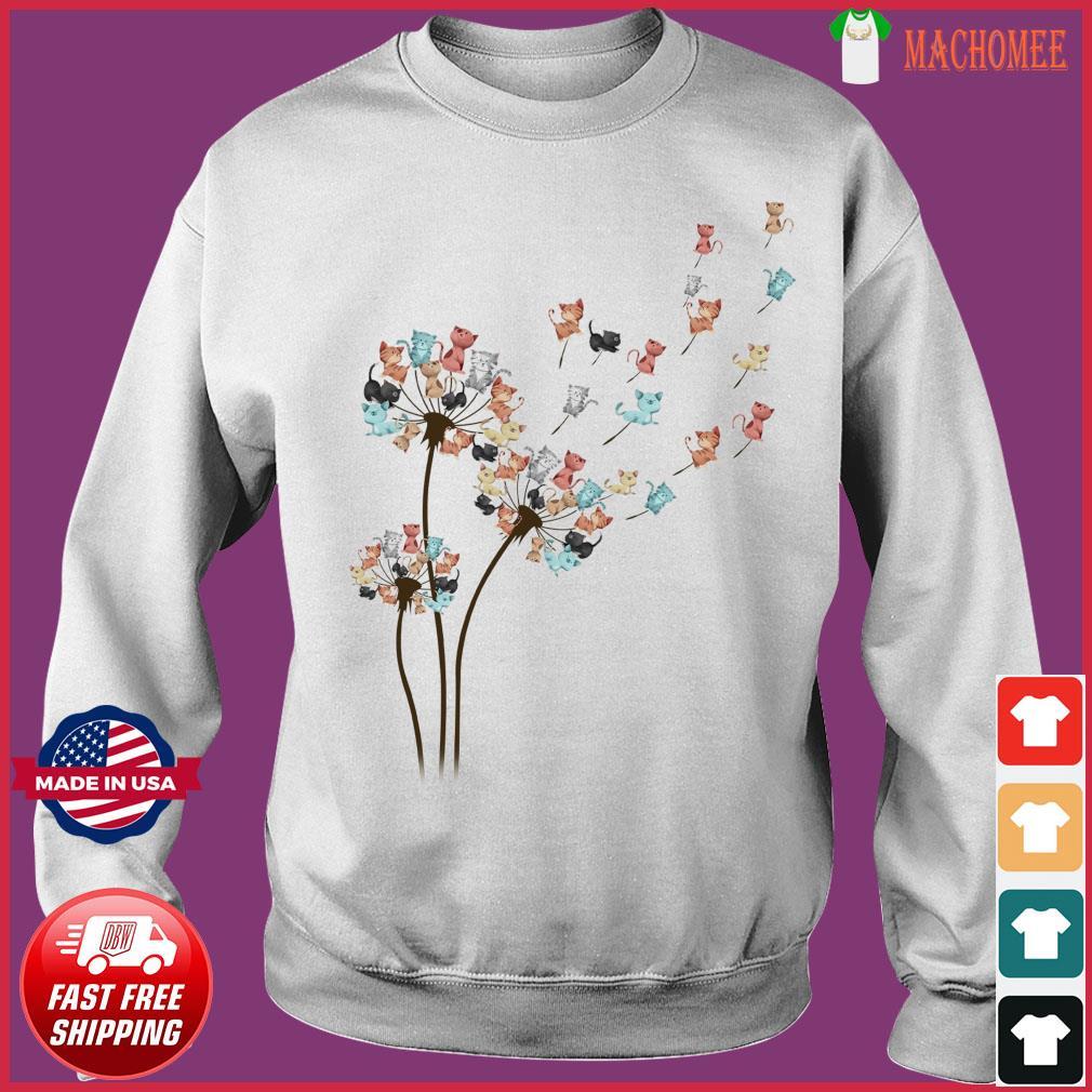Dandelion Cats Flower Shirt Sweater