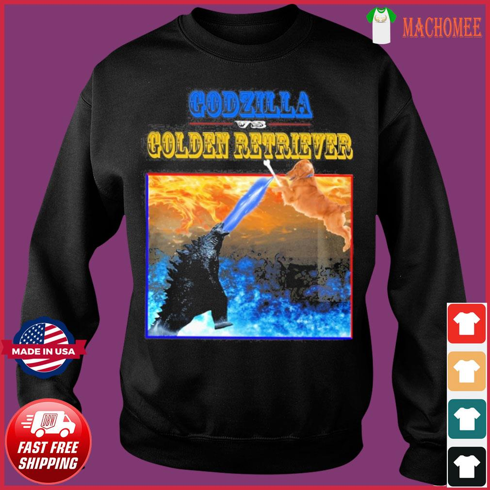 Godzilla Vs Golden Retriever With Godzilla Vs Kong Movie 2021 Shirt Sweater