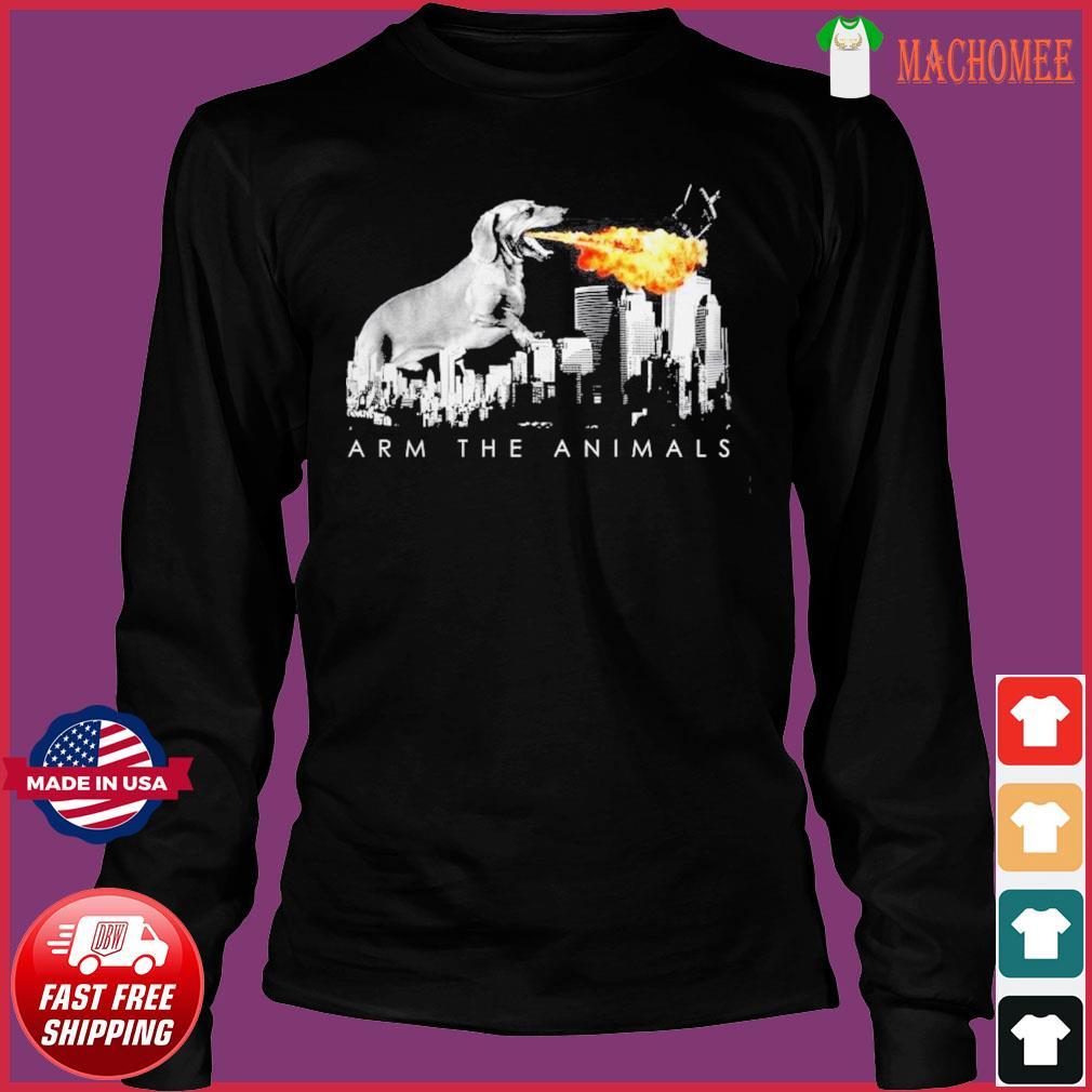 Official Dachshund Arm The Animals Godzilla Shirt Long Sleeve