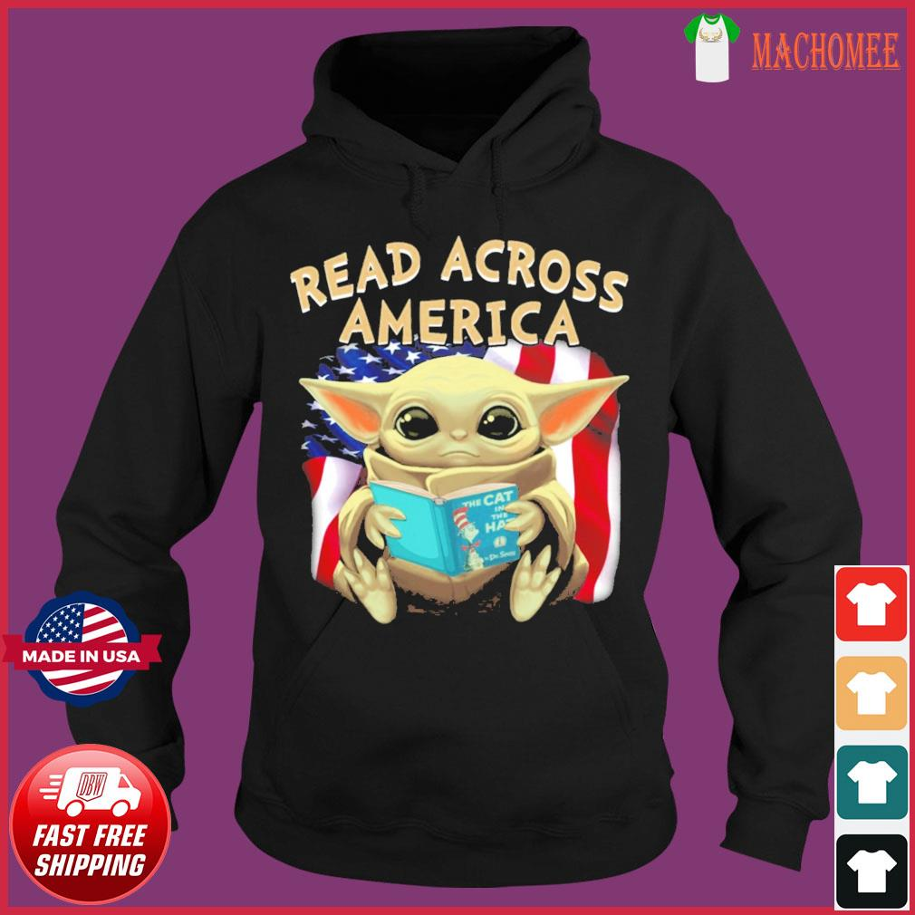 Official Star Wars Baby Yoda Read Across America Flag Shirt Hoodie