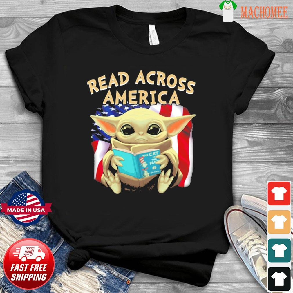 Official Star Wars Baby Yoda Read Across America Flag Shirt