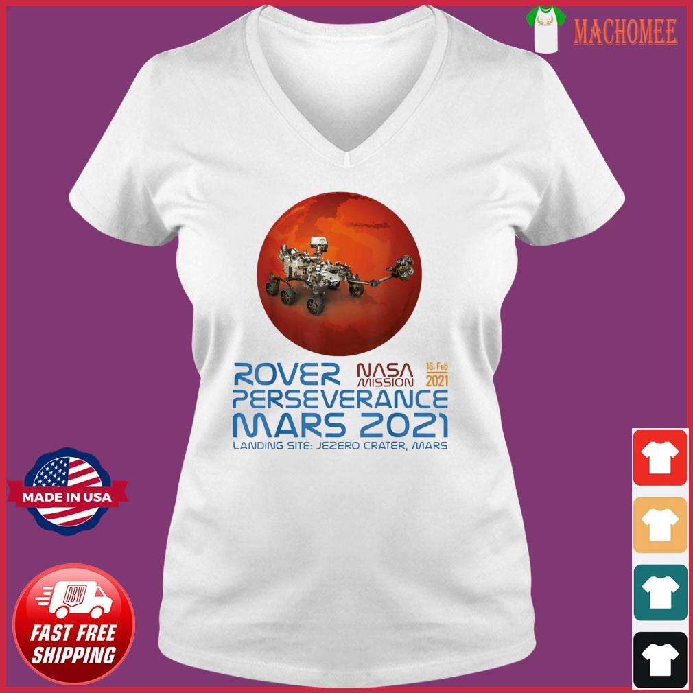 Perseverance New NASA Mars Rover 2021 Mission 18 Feb T-Shirt Ladies V-neck Tee