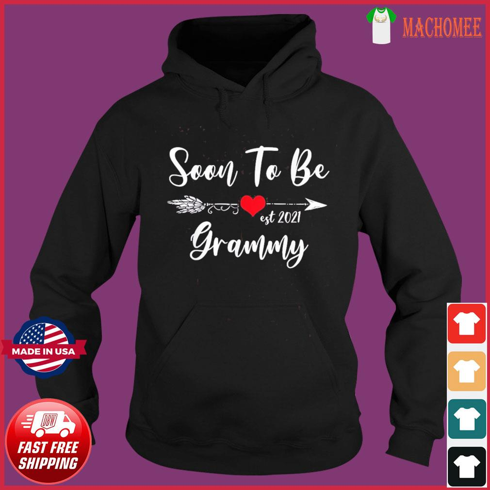 Pregnancy Announcement Soon To Be Grammy Est 2021 T-s Hoodie
