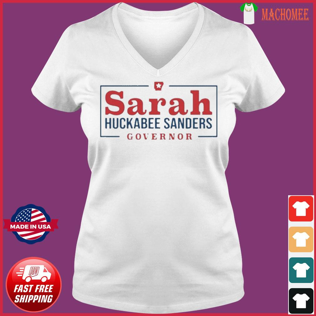 Sarah Huckabee Sanders Governor Shirt Ladies V-neck Tee