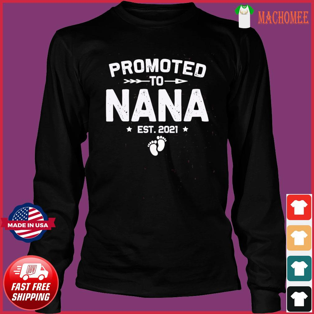 Vintage Promoted To Nana Est 2021 New Mom T-Shirt Long Sleeve