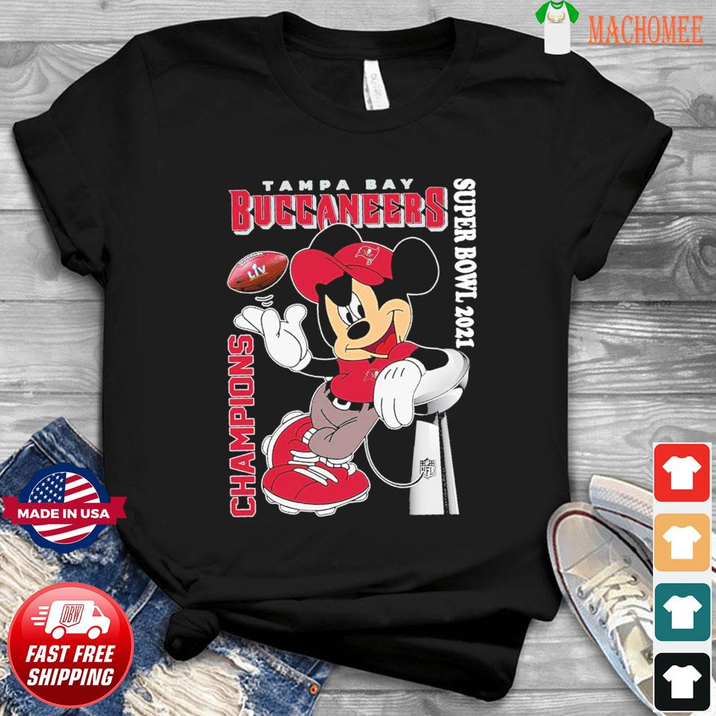 Official The Mickey Mouse With Tampa Bay Buccaneers Of Super Bowl Champions 2021 Shirt