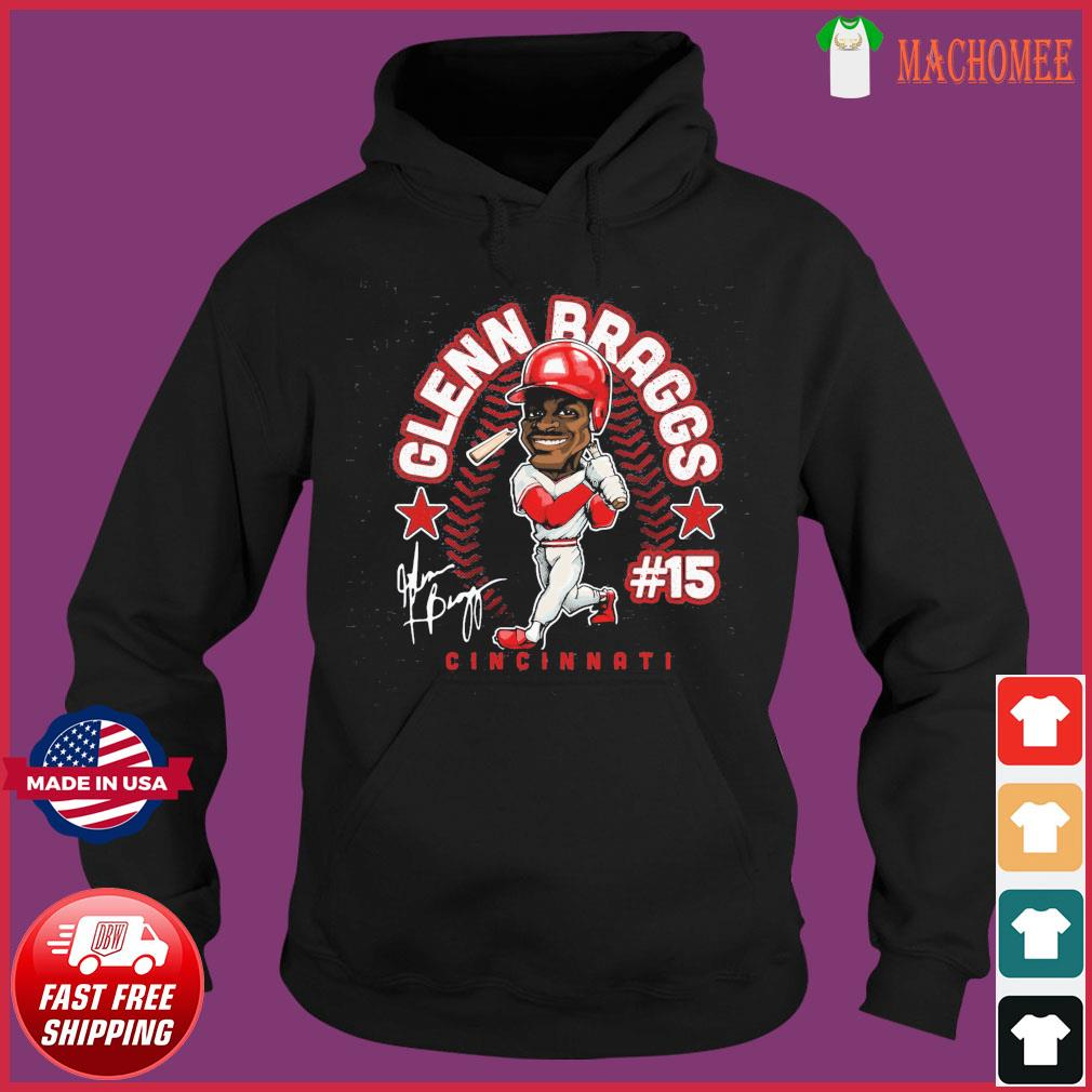 #15 Glenn Braggs Cincinnati Baseball Signatures Shirt Hoodie