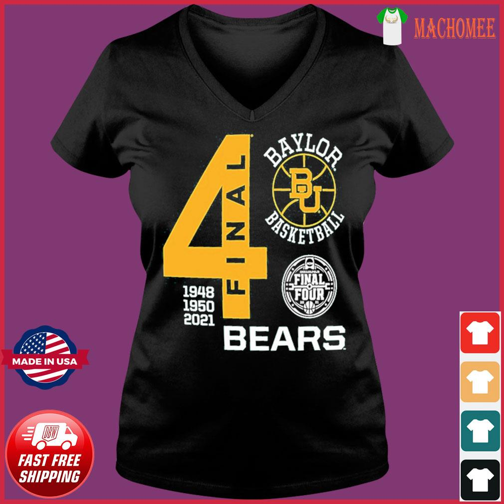 Baylor Bears Green Basketball 2021 Final Four 1948 1950 2021 Shirt Ladies V-neck Tee