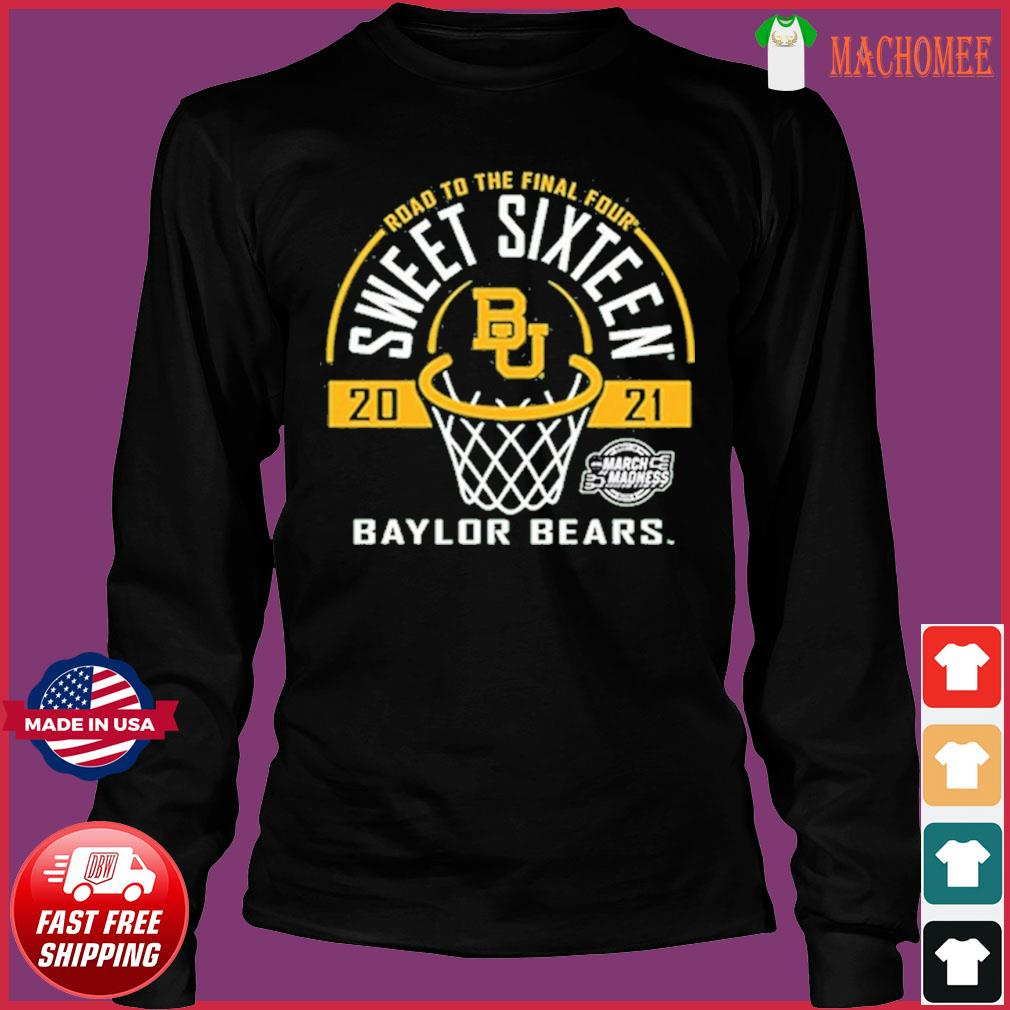 Baylor Bears Green Road To The Final Four 2021 Sweet Sixteen Shirt Long Sleeve