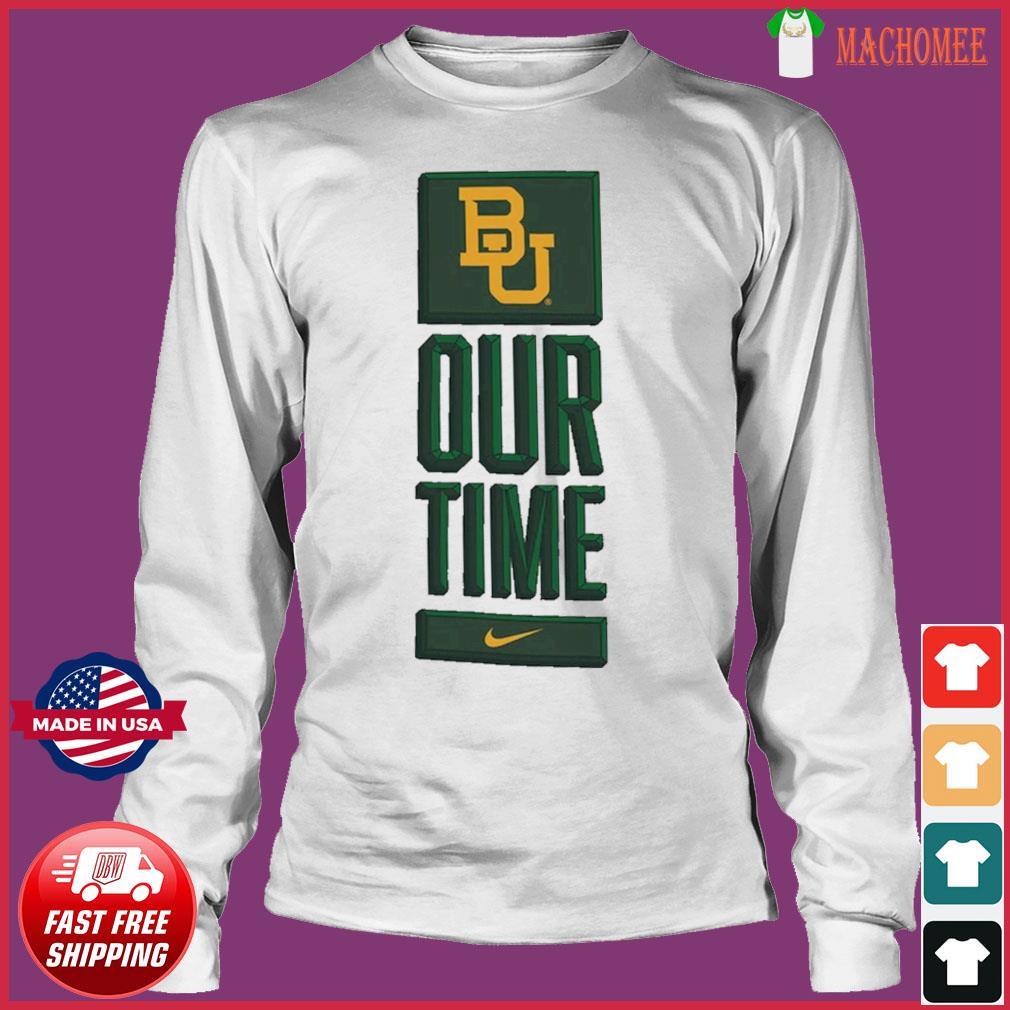 Nike BU Baylor Bears Basketball Our Time Bench Legend Performance Shirt Long Sleeve