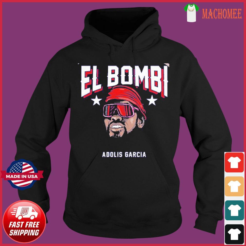 Adolis García El Bombi T-Shirt, Texas – MLBPA Licensed Hoodie