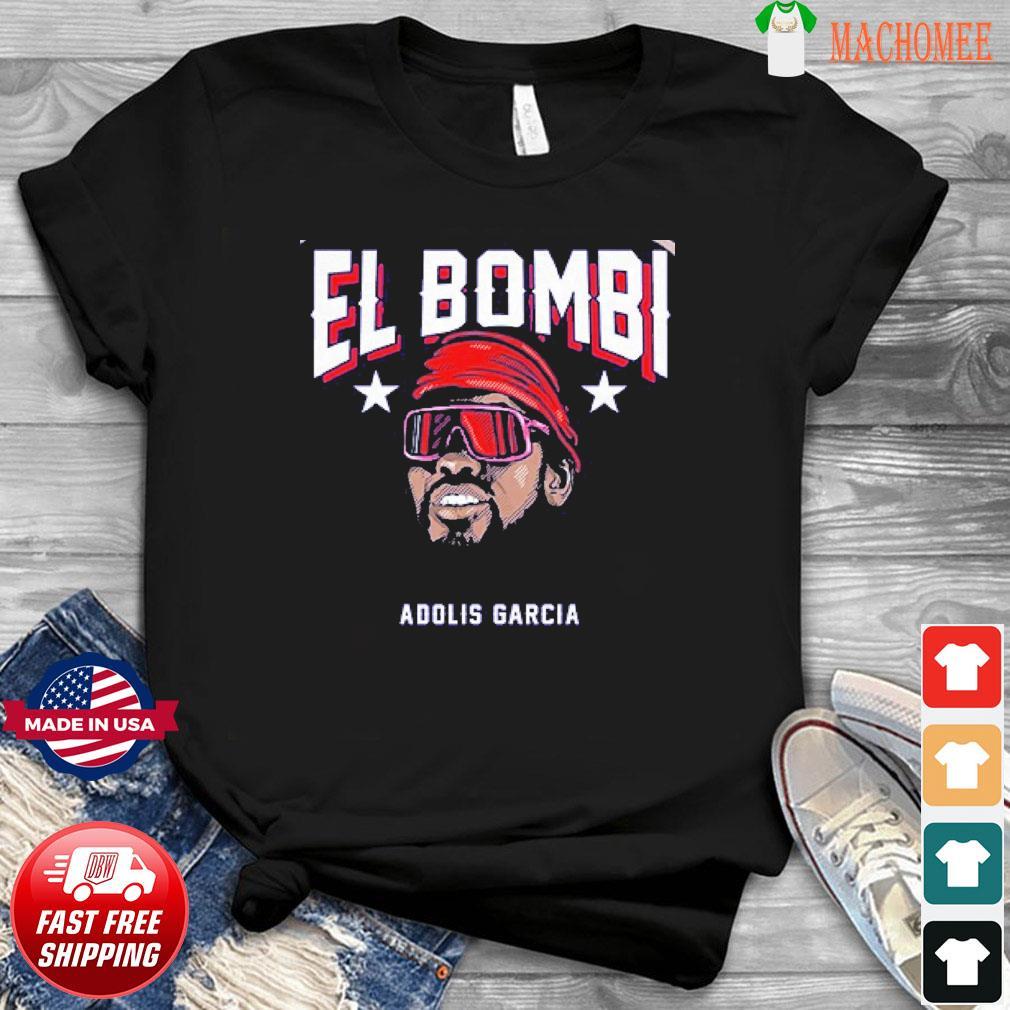 Adolis García El Bombi T-Shirt, Texas – MLBPA Licensed
