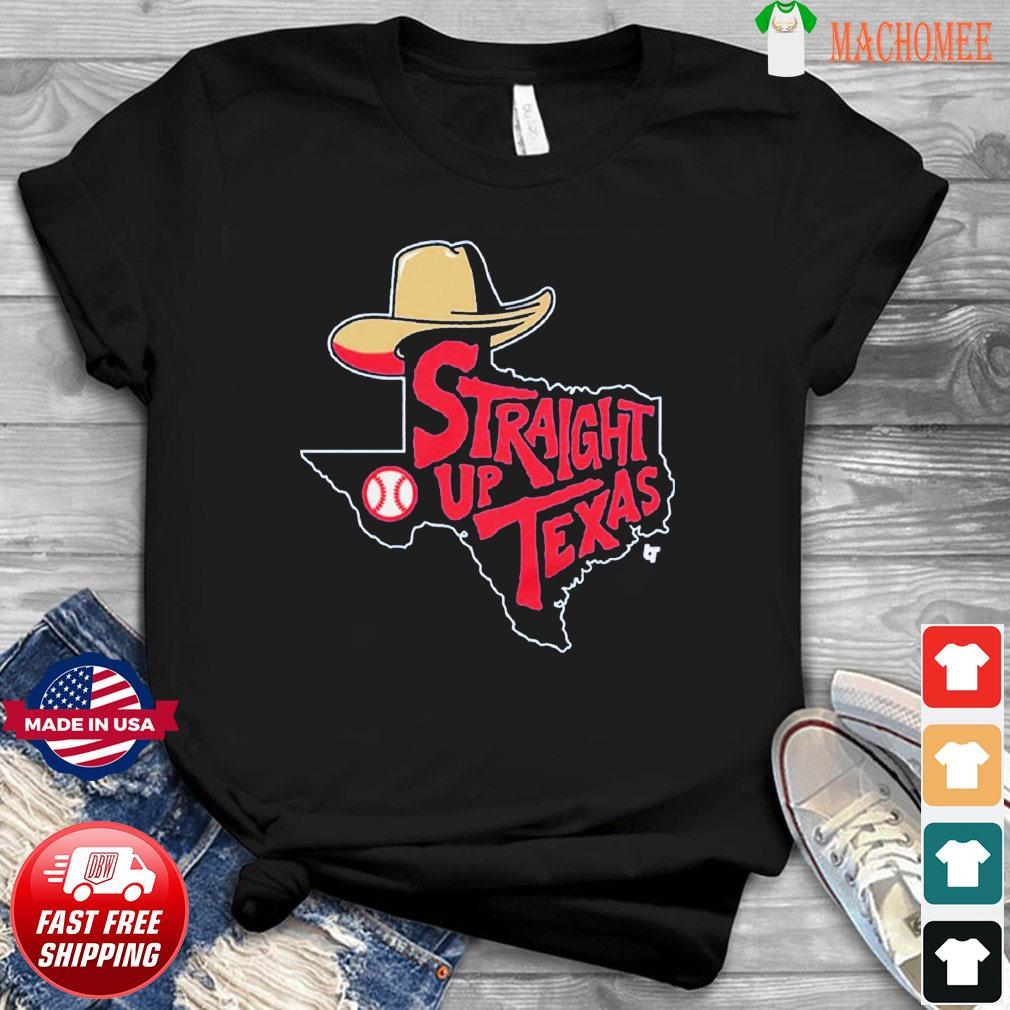 Straight Up Texas Baseball Apparel Shirt