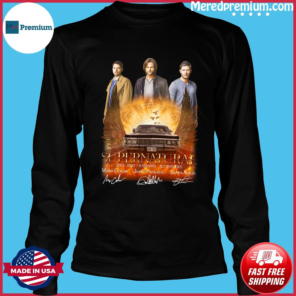 Supernatural 2005 2020 15 Seasons 327 Episodes Signatures Shirt Long Sleeve