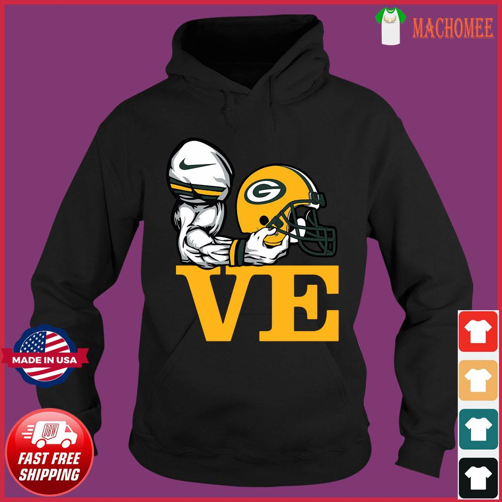 Aaron Rodgers Love Green Bay Packer Shirt Hoodie