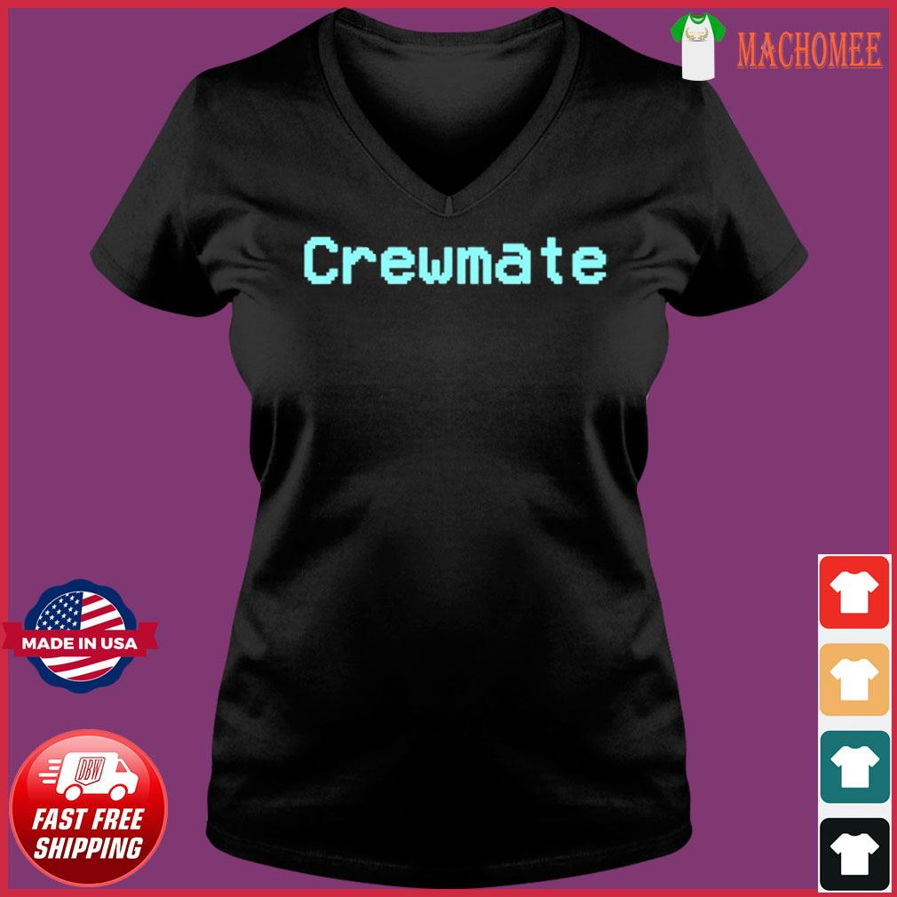 Among Us Crewmate Crew Mate Impostor Imposter Video Game Shirt Ladies V-neck Tee
