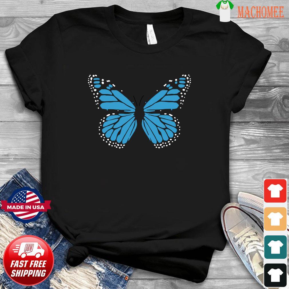 Blue Butterfly Fashion Emoji Icon Style Shirt