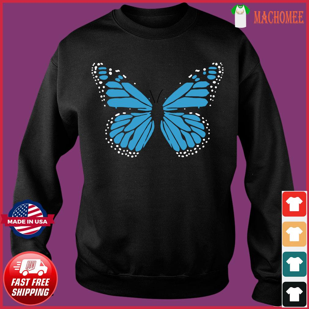 Blue Butterfly Fashion Emoji Icon Style Shirt Sweater
