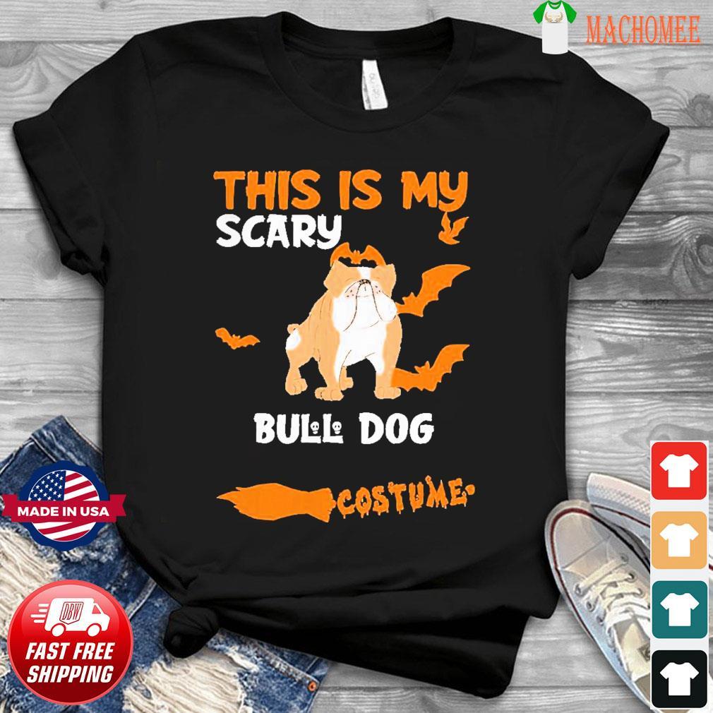 Bull Dog Brown Costume Halloween Lazy Scary Dog Shirt