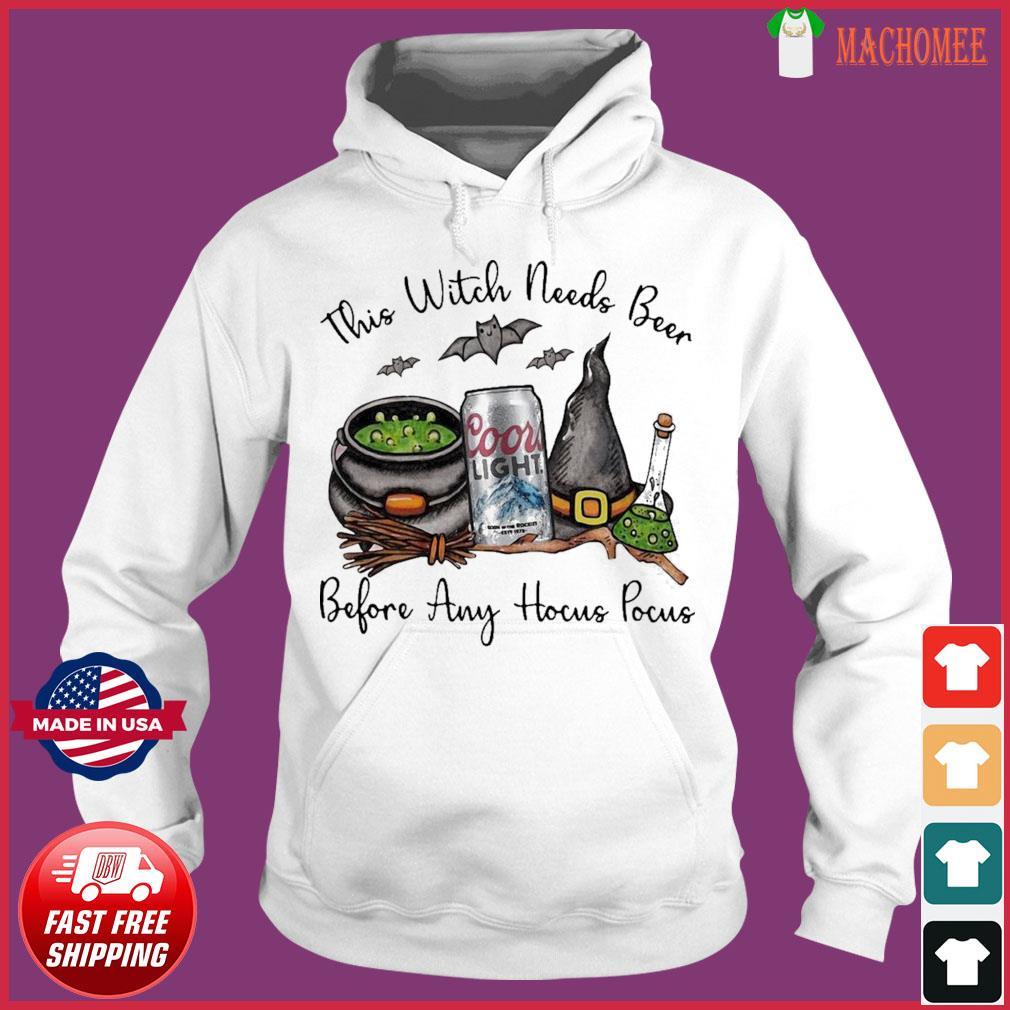 Coors Light This Witch Needs Beer Before Any Hocus Pocus Shirt Hoodie