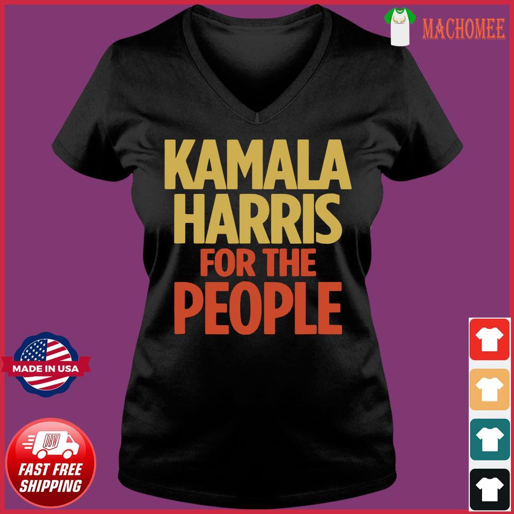 Kamala Harris For The People Tshirt 2020 President s Ladies V-neck Tee