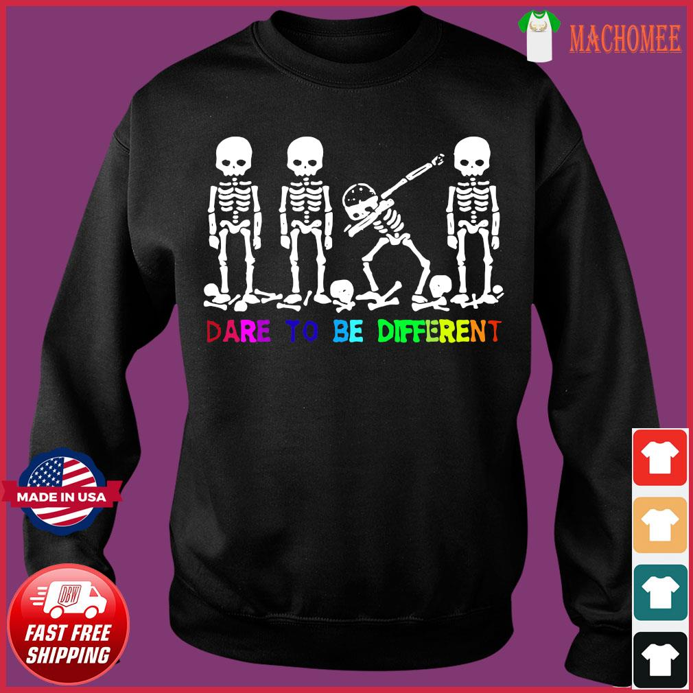 Lgbt Skull Dabbing Dare To Be Different Shirt Sweater