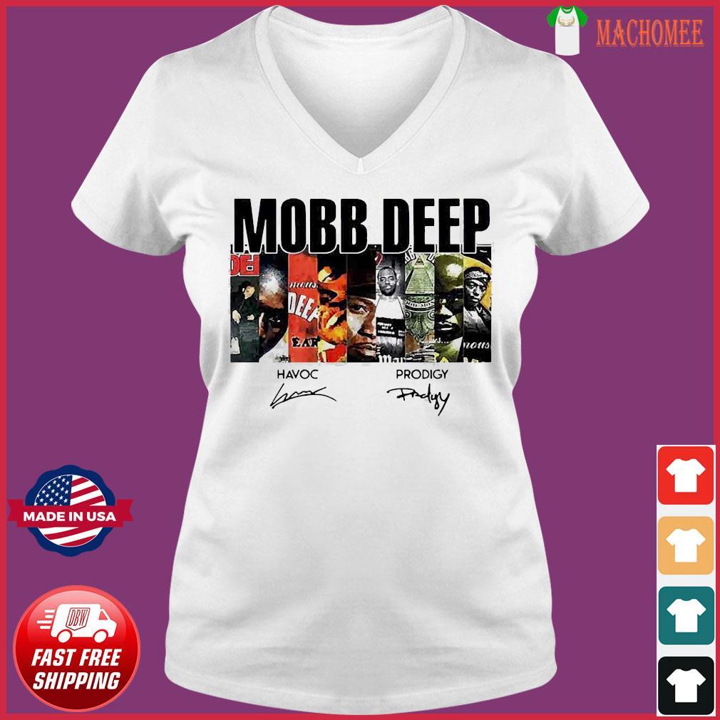Mobb Deep Signature Shirt Ladies V-neck Tee