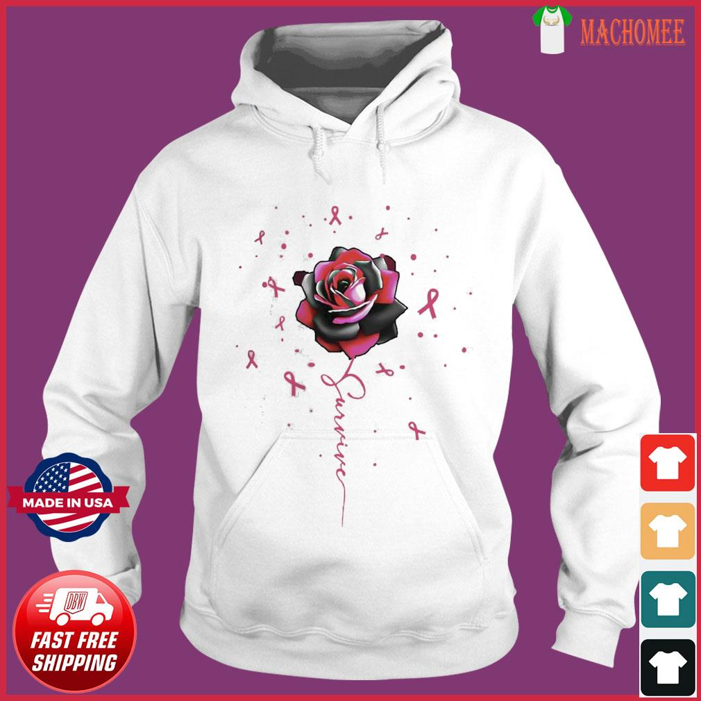 Offcial Breast Cancer Rose Survive s Hoodie