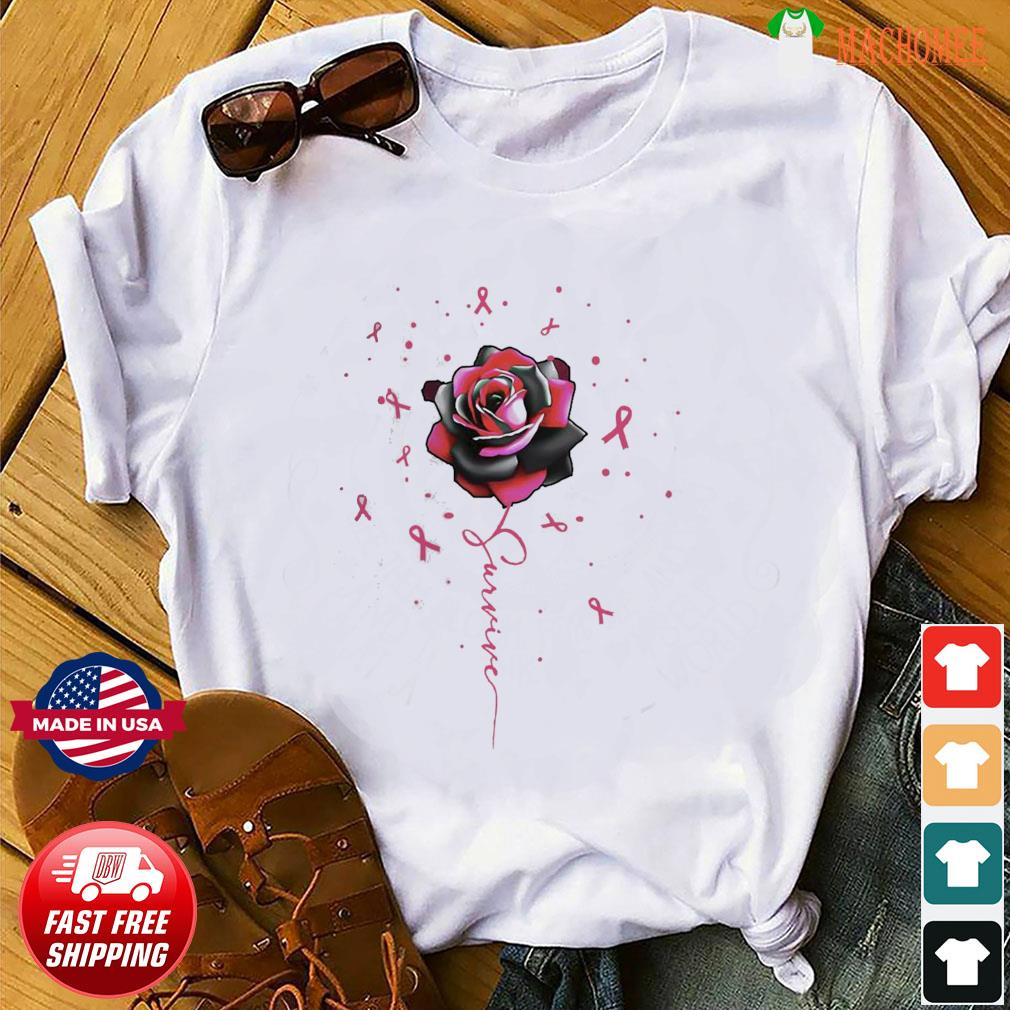 Offcial Breast Cancer Rose Survive shirt