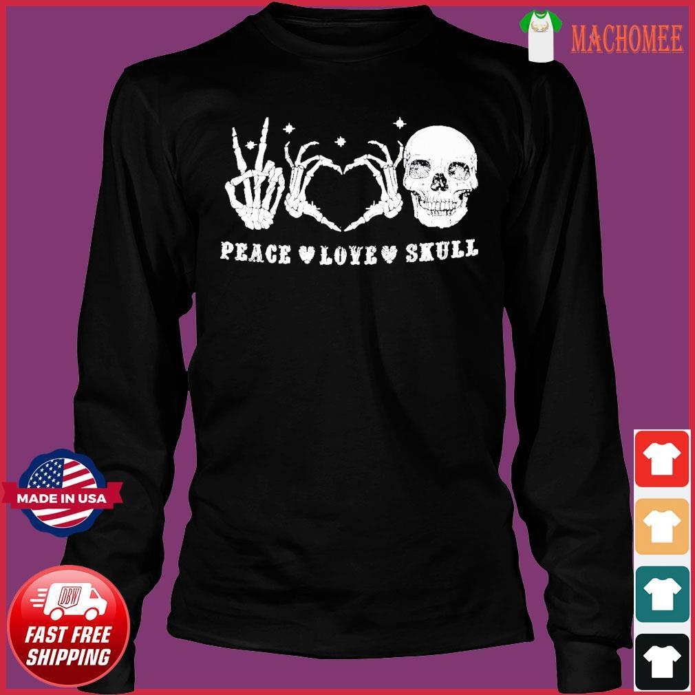 Offcial Peace Love Skull Diamond s Long Sleeve