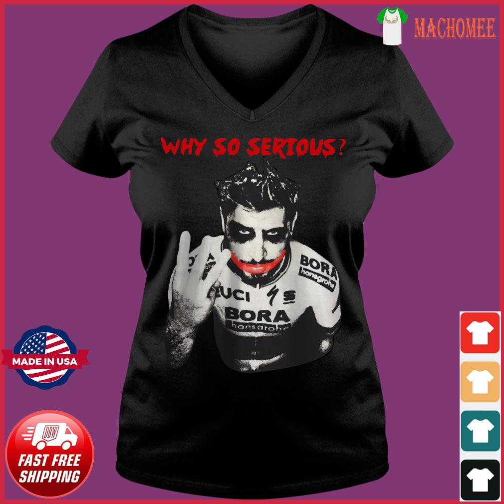Offcial Peter Sagan Joker why so Serious s Ladies V-neck Tee