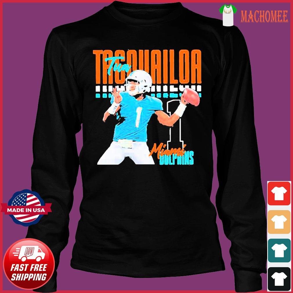 Tua tagovailoa 1 miami dolphins football player Shirt Long Sleeve