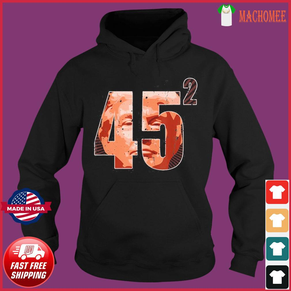 Vintage 45 Squared Trump 2020 Second Term USA Shirt Hoodie