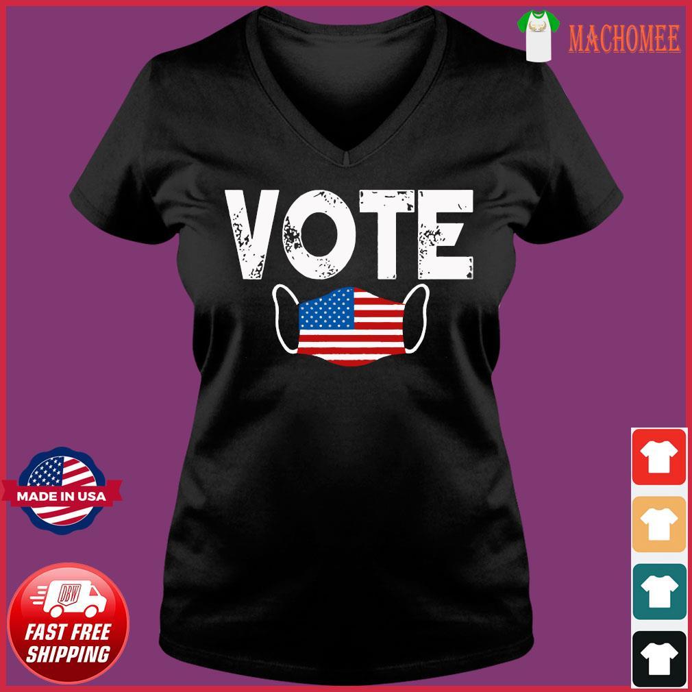 Vote Election Retro Vintage Anti Trump 2020 Election Shirt Ladies V-neck Tee