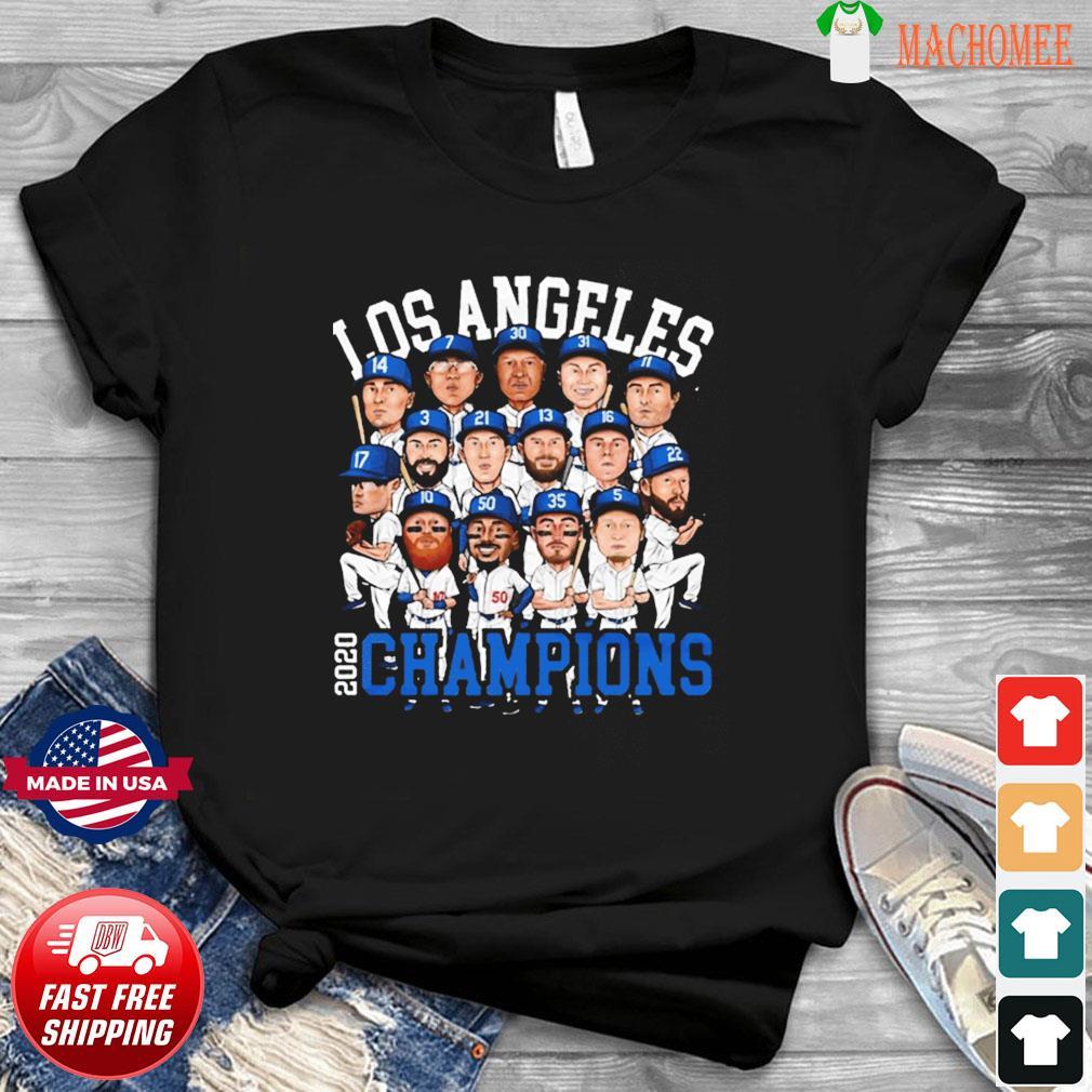 2020 World Series Champions Los Angeles Shirt – Team LA Dodgers 2020 Champions T-Shirt