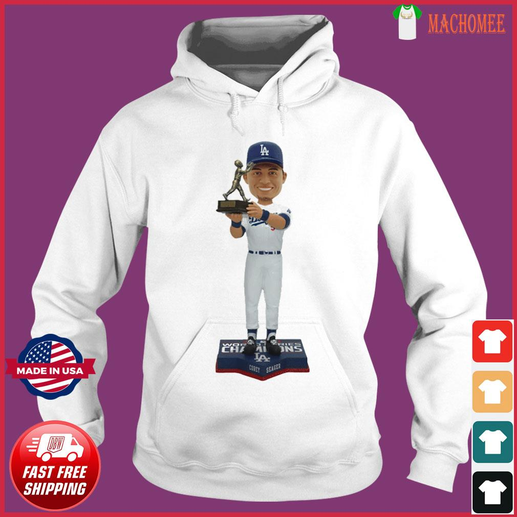 Corey Seager Los Angeles Dodgers 2020 World Series Champions MVP T-Shirt Hoodie