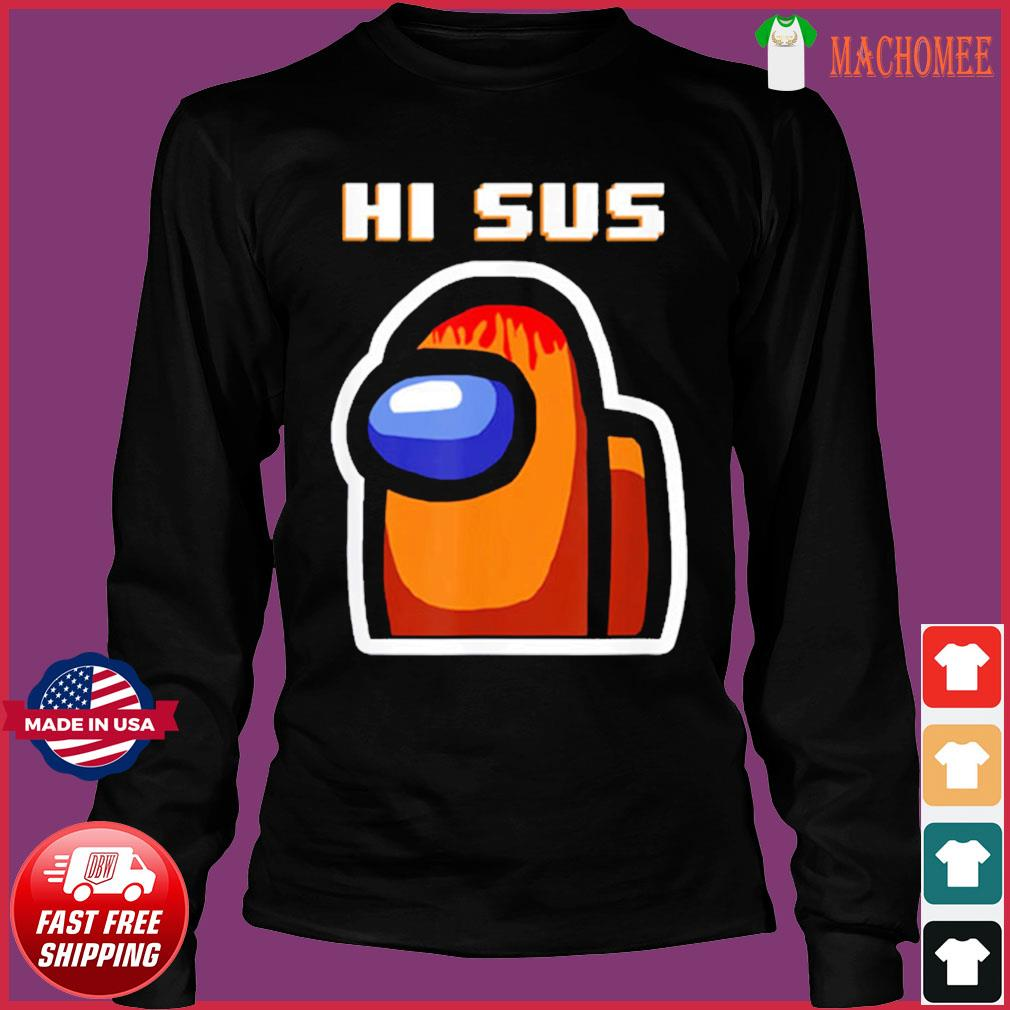 Impostor Among Us Funny Vintage Game Sus T-Shirt Long Sleeve