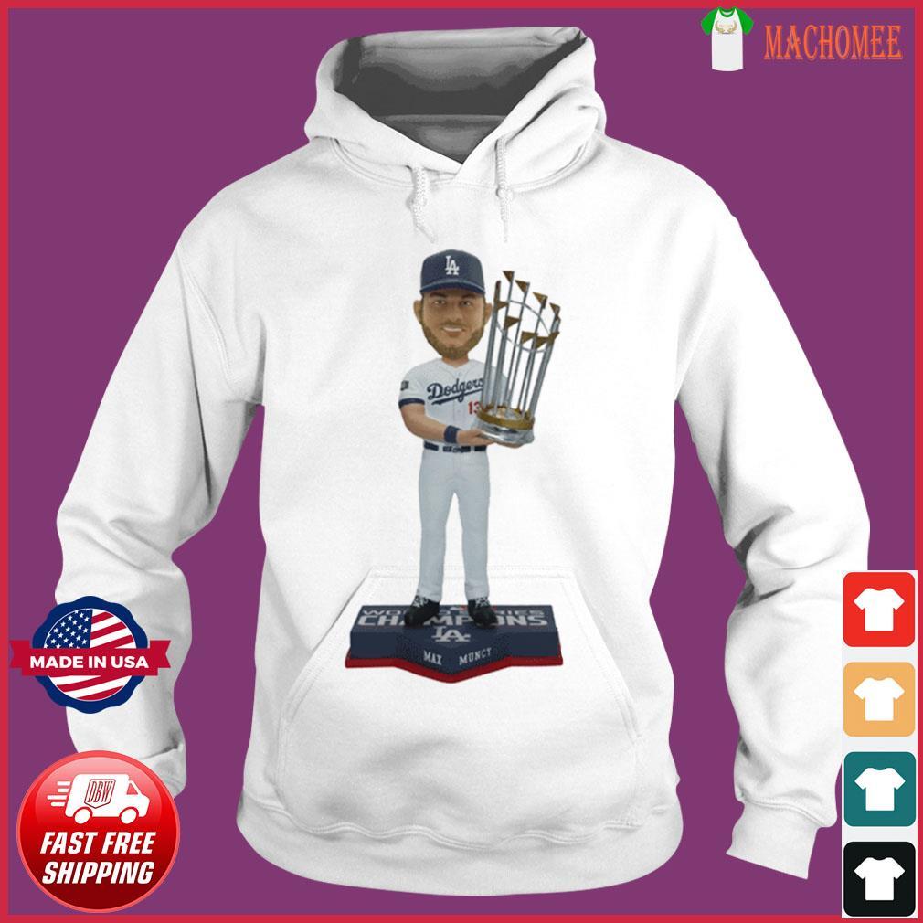 Max Muncy Los Angeles Dodgers 2020 World Series Champions T-Shirt Hoodie