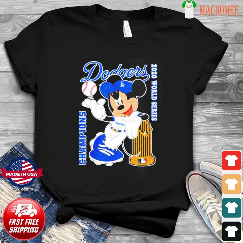 Mickey Dodgers 2020 world series champions T-Shirt