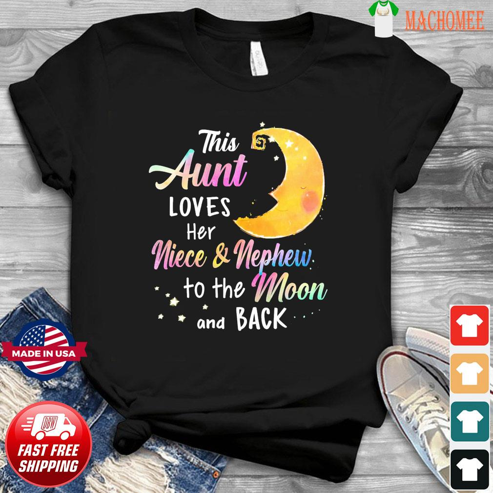 This Aunt Loves Her Niece And Nephew To The Moon And Back Christmas Sweatshirt