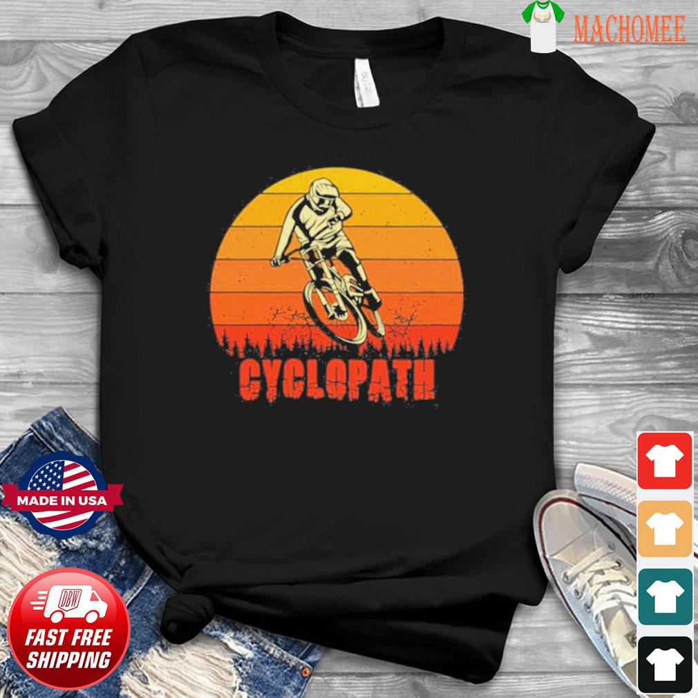 Vintage Cyclopath MTB Bike Sunset shirt