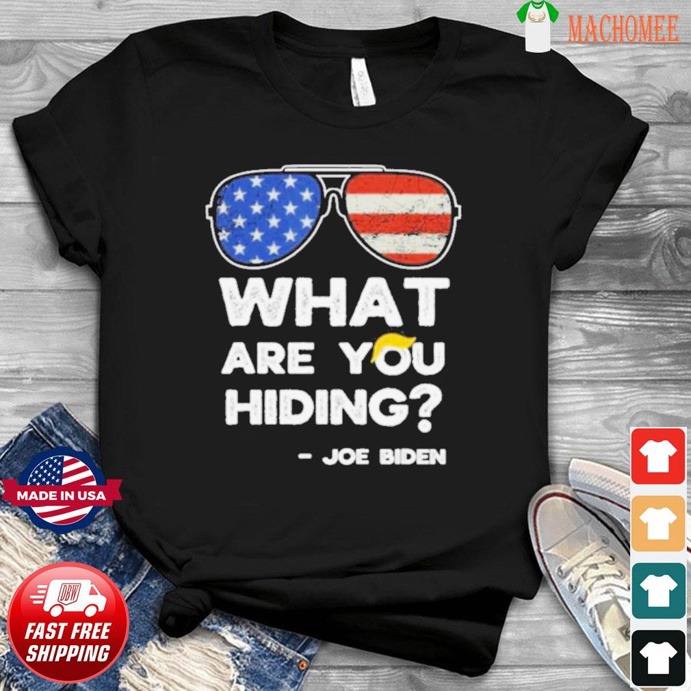 What are you hiding – presidential debate 2020 joe biden shirt
