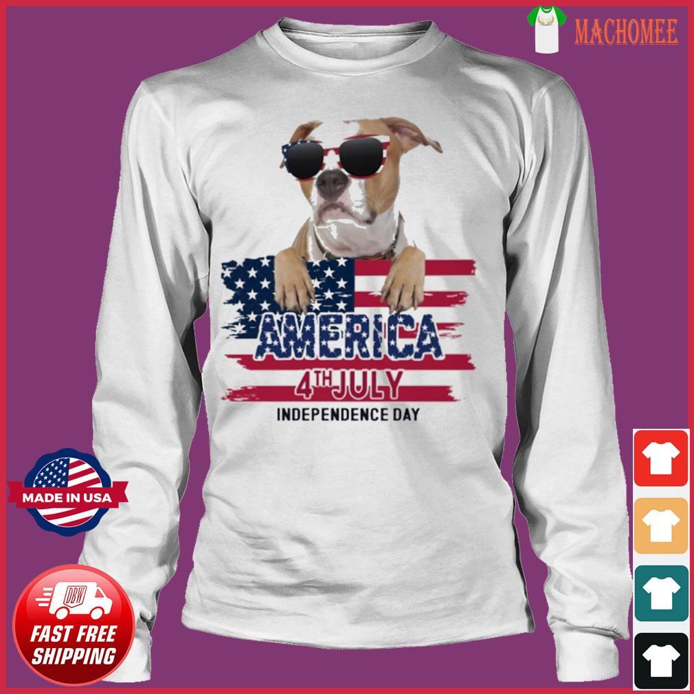 Staffordshire America 4th July Independence Day Flag Shirt Long Sleeve
