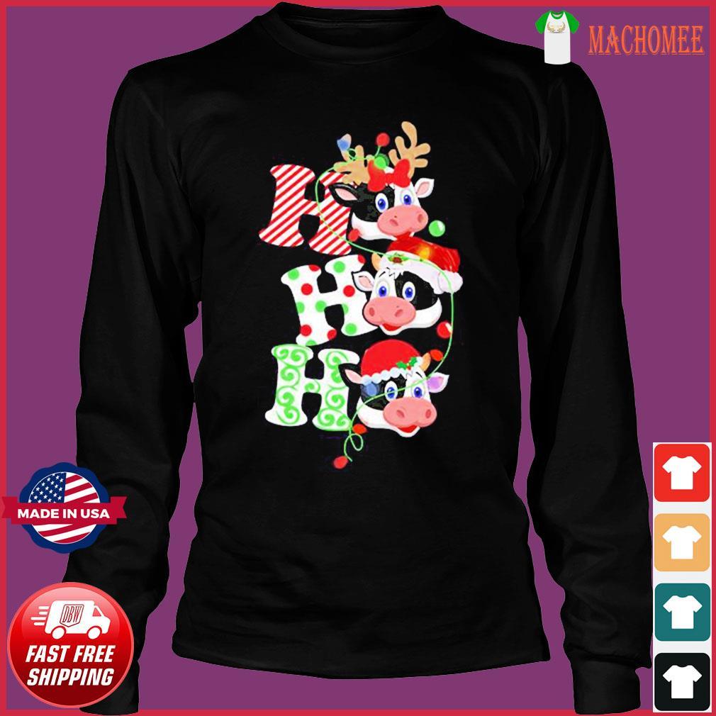 The Cows Santa Reindeer Ho Ho Ho Christmas Sweats Long Sleeve