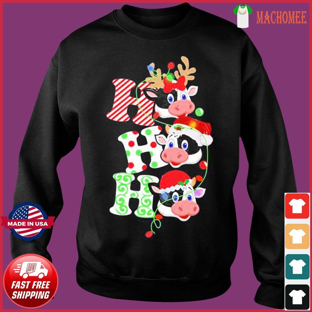 The Cows Santa Reindeer Ho Ho Ho Christmas Sweats Sweater