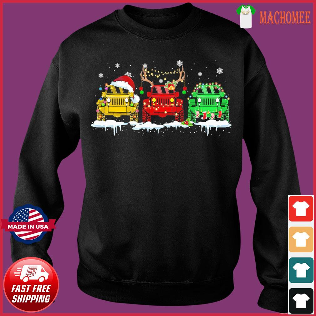 The Jeeps Santa Reindeer Christmas Sweats Sweater